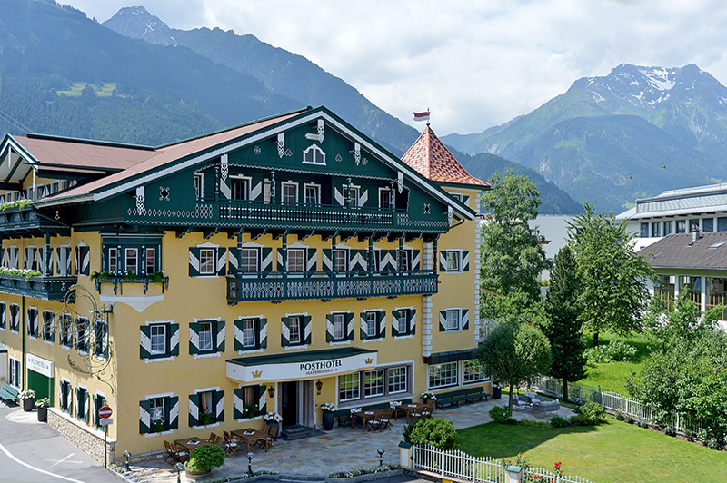 The Posthotel in Mayrhofen in Summer in the Zillertal