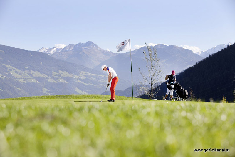 The golf course in Uderns in the Zillertal