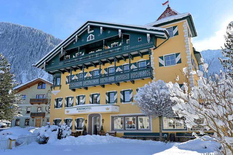 The Posthotel Mayrhofen in winter