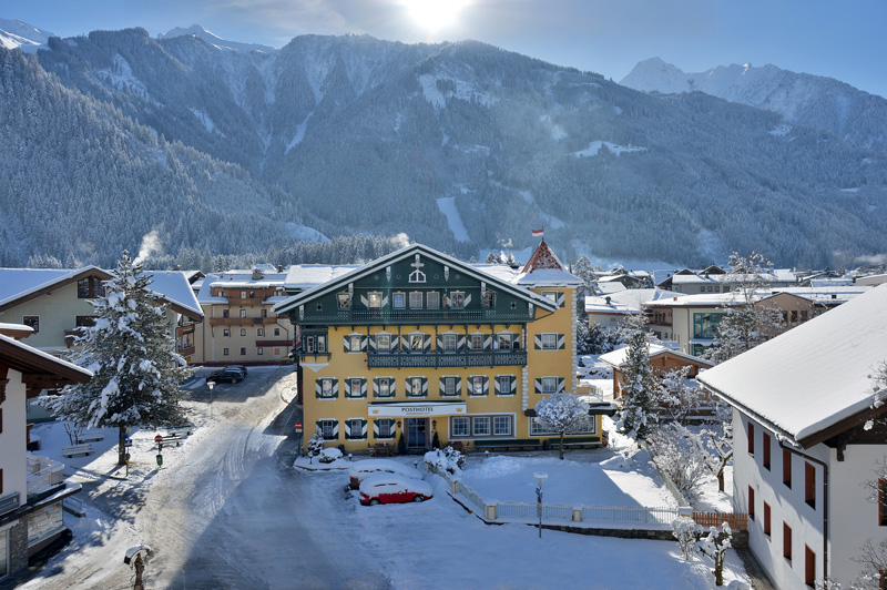 The Posthotel in Mayrhofen in Winter in the Zillertal